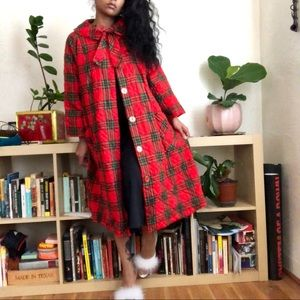 Jackets & Blazers - Vintage Plaid Quilted Coat